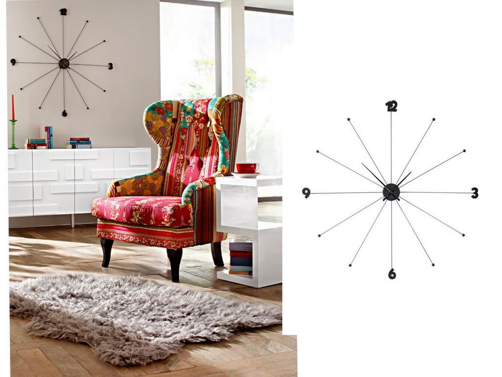 Kare Design Zegar Cienny Like Umbrella Czarny 61805 Home Design