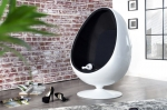INTERIOR :: Fotel Egg Shell White/Black (Z1134)
