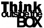Dekosign :: Napis naklejka na ścianę 3D Think Outside The Box czarny (TOB1-1)