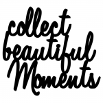 Dekosign :: Napis na ścianę 3D Collect Beautiful Moments czarny (CBM1-1)