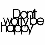 Dekosign :: Napis na ścianę 3D Dont Worry Be Happy czarny (DWBH1-1)