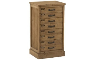 J-LINE :: Komoda Drawers Wood Natural, drewno, 80x43x34,5 cm (JL90484)