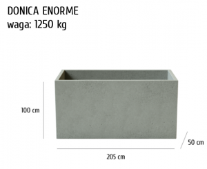 HOME Design :: Donica betonowa Enorme, szary, antracyt, 205x50x100 cm