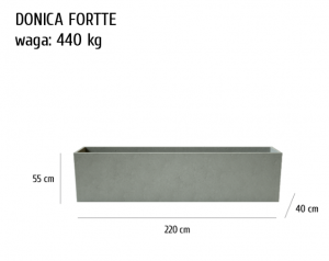 HOME Design :: Donica betonowa Fortte, szary, antracyt, 220x40x55 cm