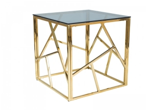 HOME Design :: Stolik, ława 55x55 Gold, złoty, metal