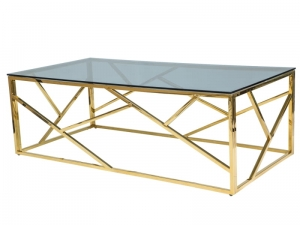 HOME Design :: Stolik, ława Gold 2 120x60 złoty, metal
