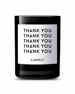 "CANDLY & Co :: Świeca wegańska ""Thank you"""