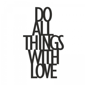 Dekosign :: Napis na ścianę 3D Do All Things With Love czarny (DAT1-1)