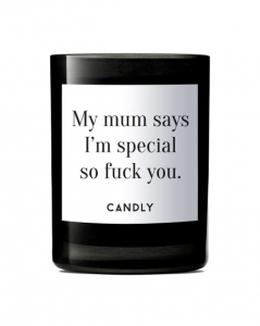 "CANDLY & Co :: Świeca wegańska ""My mum says I'm special"""