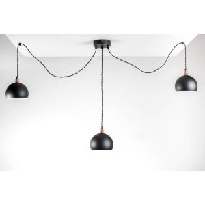 HOME Design Lux :: Lampa wisząca pająk BETON 6NPCZARNY