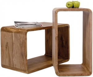 HOME Design :: Zestaw półek, cube Authentico, mini regał, stolik  (2szt.) (75060)