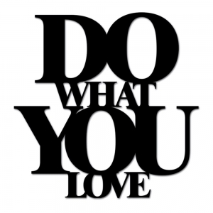 DekoSign :: Napis DO WHAT YOU LOVE czarny (DWYL1-1)