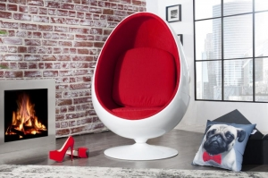INTERIOR :: Fotel Egg Shell White/Red (Z760)