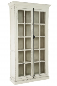 J-LINE :: Witryna Display Closet Wood Natural White, 195x110x45 cm (JL62424)