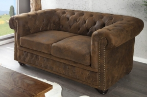 INTERIOR :: Sofa Chesterfield 2 os. Antic Look (Z17109)