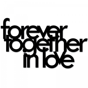 Dekosign :: Napis na ścianę 3D Forever Together In Love czarny (FTIL1-1)