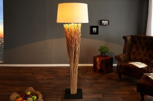 WOOD Design :: Lampa podłogowa Roots Natural / Len (Z20697)