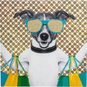 Kare Design :: Obraz na płótnie pies Shopping Dog 40x40 (38509)