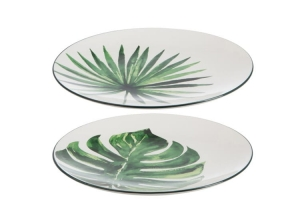 HOME Design :: Talerz deserowy Monstera , greenery, botanical, jungle, liście 22,1 cm (JL71769)
