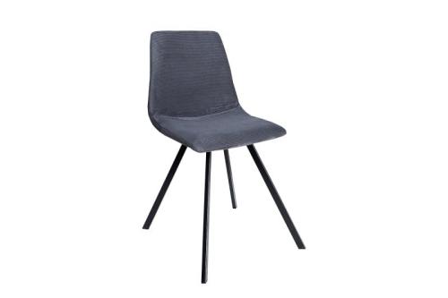 Interior Krzesło Do Jadalni Haga Retro Szare Sztruks Z38370
