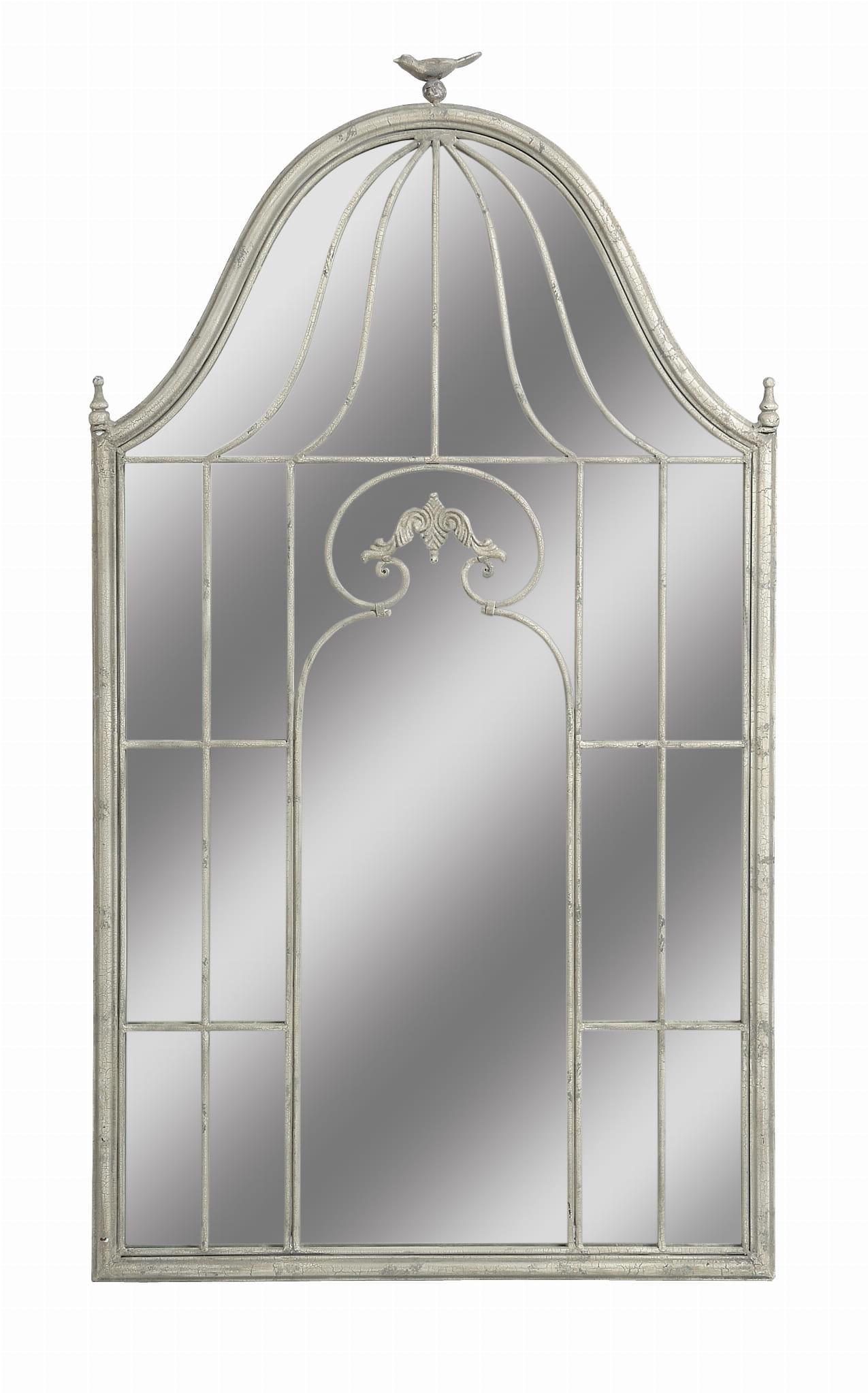 Belldeco Lustro Dekoracyjne Z Motywem Garden Metal Szkło 128x72x35 Cm Bdc036qkl