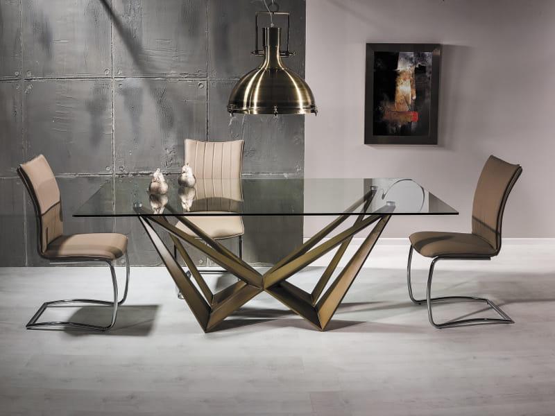 W Mega HOME Design :: Stół Tokio szklany blat 200X100cm, stalowa podstawa JR45