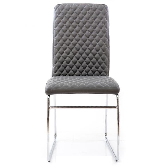 Zupełnie nowe HOME Design :: Krzesło Glam szare pikowane ekoskóra - cena, opinie US81