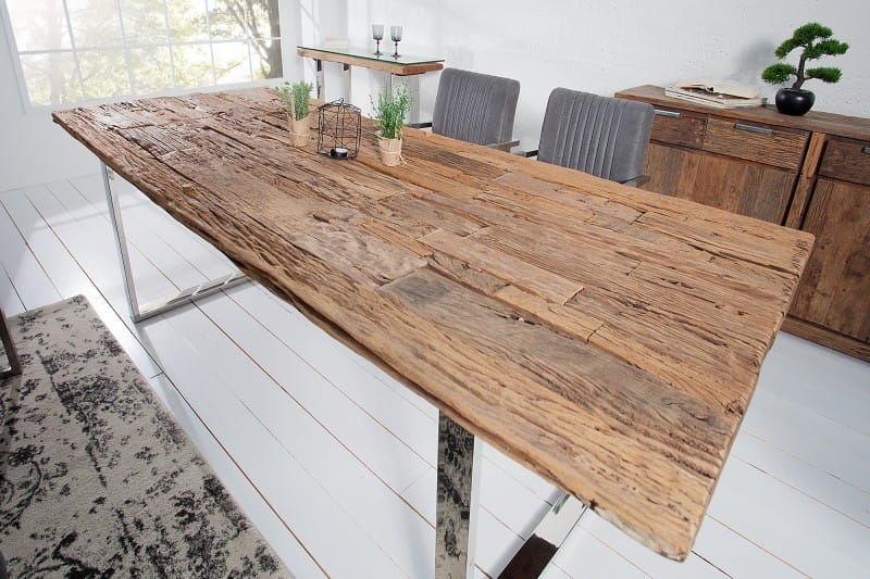 Interior :: Stół do jadalni Euphoria Barracuda stare drewno tekowe 240cm,  (Z35099) - cena, opinie - sklep internetowy online Home Design